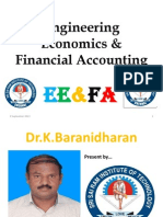 ENGINEERING ECONOMICS & FINANCIAL ACCOUNTING - FINAL YEAR CS/ IT THIRD YEAR - SRI SAIRAM INSTITUTE OF TECHNOLOGY, CHENNAI - Dr.K.BARANIDHARAR