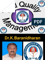 TQM - SIX SIGMA - FINAL YEAR ECE - SRI SAIRAM INSTITUTE OF TECHNOLOGY, CHENNAI - Dr K.BARANIDHARAN