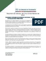La Semana en Guatemala 2012 / feb 14 - 20