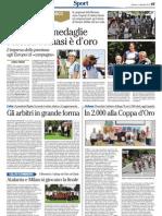 Coppetta d'Oro su L'Adige del 2 settembre 2013