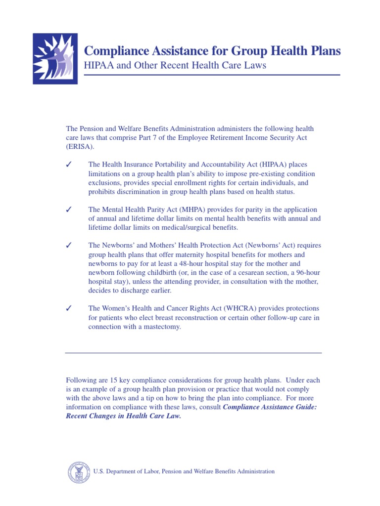 Department of Labor: Top15Tips | Pre Existing Condition