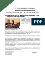 La Semana en Guatemala 2012 / mar 1 - 6