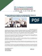 La Semana en Guatemala 2012 / abr 11 - 17