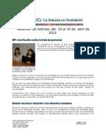 La Semana en Guatemala 2012 / abr 24 - 30