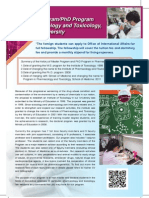 Master ProgramPhD Program in Pharmacology and Toxicology, Tzu Chi University