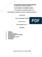 SILABO DE TESIS EN INGENIERIA QUIMICA - 2013 - II