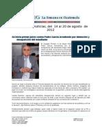 La Semana en Guatemala 2012 / ago 14 - 20