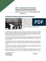 La Semana en Guatemala 2012 / sep 11 - 17