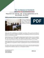 La Semana en Guatemala 2012 / sep 25 - oct 1