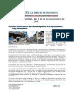 La Semana en Guatemala 2012 / nov 6 - 13
