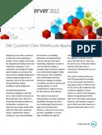 SQL Server 2012 Dell Quickstart DW Appliance Datasheet