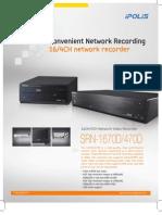 16/4CH network recorder