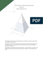 Derive Frustum Volume of a Square Pyramid