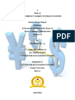 59335036 Summer Project Report on Currency Market