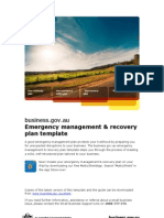 Emergency Management Recovery Plan