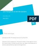 Opi20130829 Les Francais Et La Rentree Scolaire