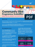Community First Summer 2013 Evaluation Update