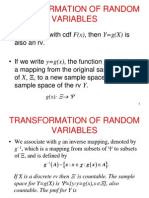 3.Random Variables Expectation Transformation