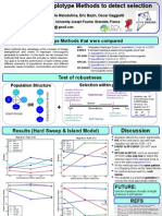 ESEB2013 poster haplotype methods Alexandra Vatsiou