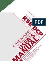 DCP Manual K100 Models OCT2007