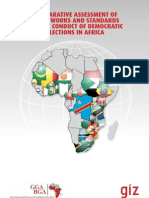 Comparative Assessment of Frameworks and Standards for the Conduct of Democratic Elections in Africa