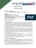 memoriu de Prezentare Omv Petrom -Conducta Sonda 1 Budesti - Parc 2 Fauresti