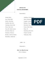 Article VIII - Judicial Department