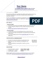 retail   sales assistant cv templatethe     modern     skill based cv