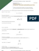 Sintaxis de TeX para insertar fórmula matemáticas en los mensajes - Todoexpertos