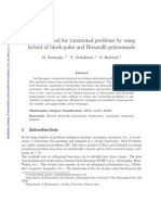 Direct method for variational problems by using hybrid of block-pulse and Bernoulli polynomials