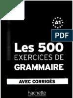 Les 500 Exercises Des Grammaire A1