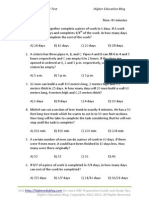 Time & Work Chapter Tests
