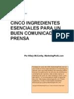 Comunicado Prensa