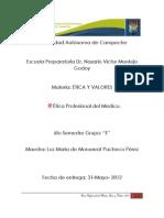 Etica Profesional Del Medico