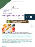 La milagrosa dieta del pH – parte 2