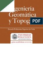 Grado en Ingenieria Geomática y Topografía_Avila 2012-2013