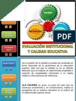 Evaluacion Institucional y Calidad Educativa