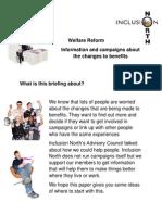 Welfare Reform Campaigns Briefing