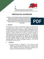 DIRECTIVA N°045-2013-DREJ-DGP. SUSPENDER LAS CLASES POR FRIAJE