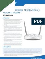 TD-W8968 V2 Datasheet