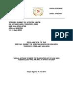 2013 Abuja Declaration