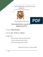 informe # 3  Instrumentacion y ley de ohm