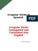 Spanish Irregular Verbs Conjugated and Translated
