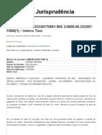 Inteiro Teor do Acórdão _ TJ-MG _ 200000033336770001 MG 2.0000.00