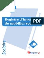 A071 Registre d'Inventaire Du Mobilier Scolaire