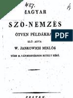 Jankovich Miklós - Magyar szó-nemzes ötven példákban 1812.
