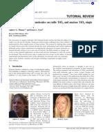 Adsorption of Organic Molecules on Rutile TiO2 and Anatase TiO2 Single Crystal Surfaces