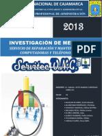 INVESTIGACIÓN DE MERCADOS SERVITEC UNC