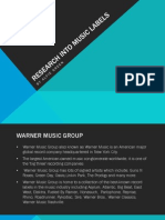 Research Into Music Labels