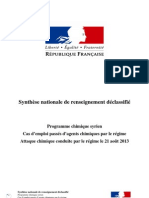 Syrie Synthese Nationale de Renseignement Declassifie 02-09-2013